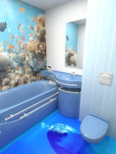 3d підлоги у ванній