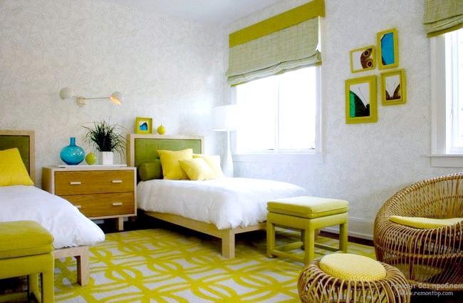 Строкате поєднання стін і підлоги