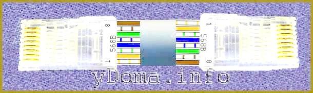 Фото - Колірні схеми обтиску (терморегулятори) кабелю кручених парво вилці rj-45