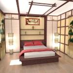 Інтер'єр спальні в японському стилі