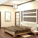 Інтер'єр спальні в японському стилі фото