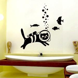 Фото - Як вибрати і наклеїти картинки у ванну?