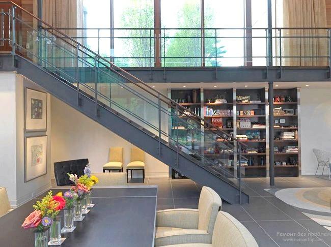 Фото - Металеві сходи в стилі лофт