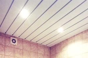 Фото - Огляд достоїнств і установки стелі з пластику у ванну кімнату