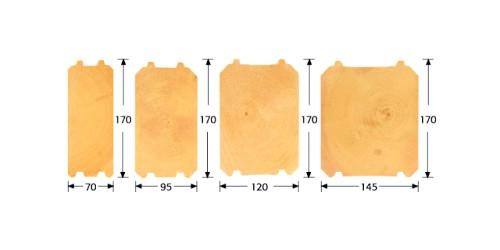 Розміри профільованого бруса