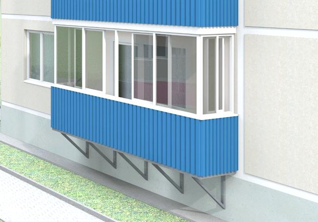 Фото - Обшивка балкона профнастилом: нова тенденція
