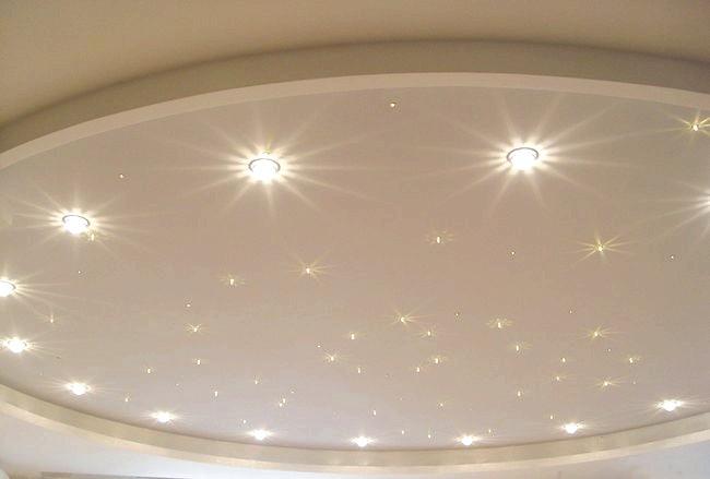 Фото - Установка світильників в підвісні стелі