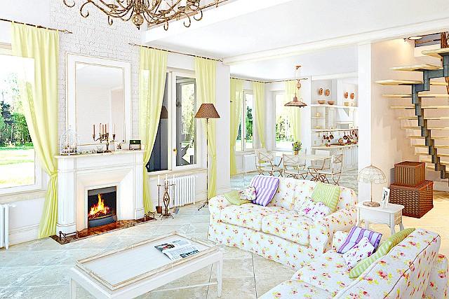 Фото - Біла вітальня - від маленької хрущовки до розкоші арт-деко