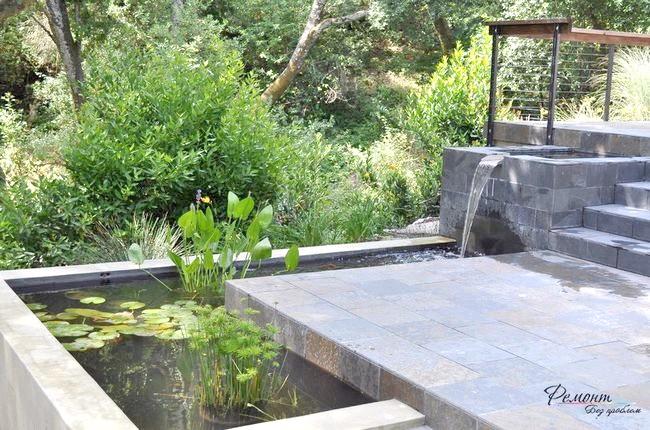 Фото - Водоспад у дворі - відтінок свіжості і умиротворення