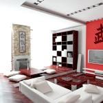 Інтер'єр вітальні в японському стилі
