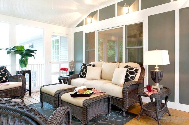 Фото - Плетені меблі в інтер'єрі