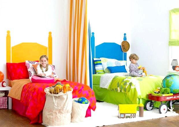 Фото - Дизайн дитячої кімнати для двох дітей: хлопчика і дівчинки
