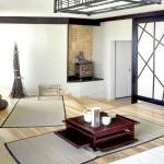 Дизайн вітальні в японському стилі