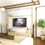 Дизайн вітальні в японському стилі фото