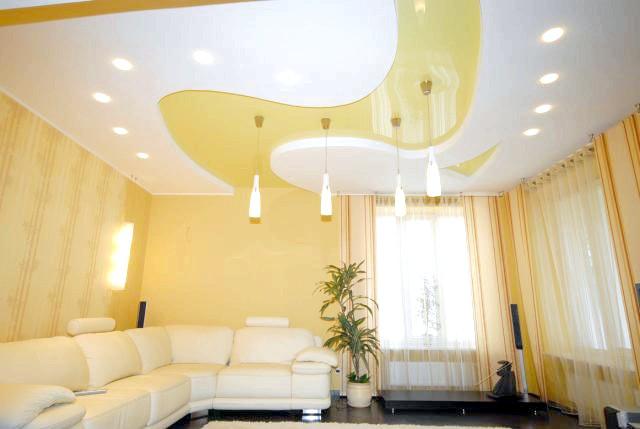 Фото - Дизайн підвісної стелі своїми руками