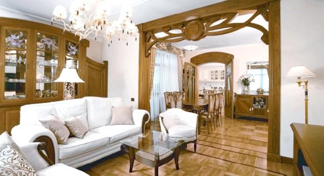 Фото - Оформлення сучасної квартири в стилі традиційного модерну (дизайн арт-нуво)