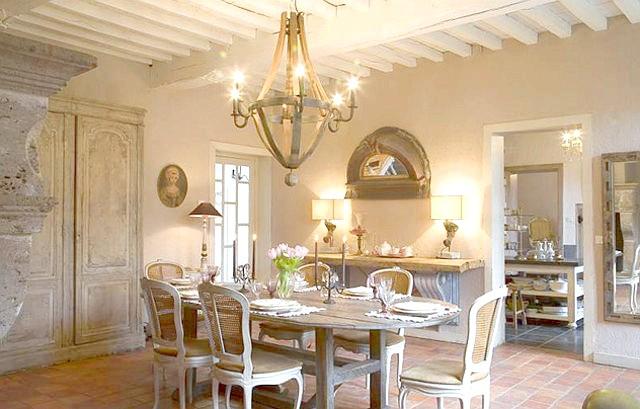 Фото - Вітальня в стилі прованс - чарівність французького кантрі