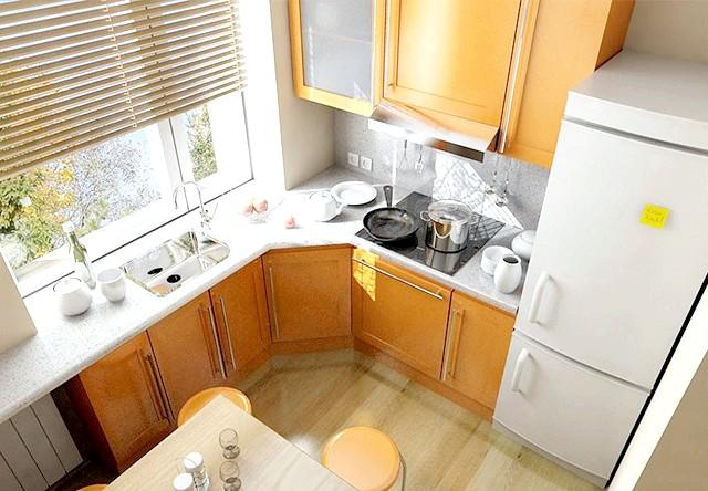 Фото - Ідеї яскравих рішень інтер'єру для кухні маленького розміру - фотогалерея