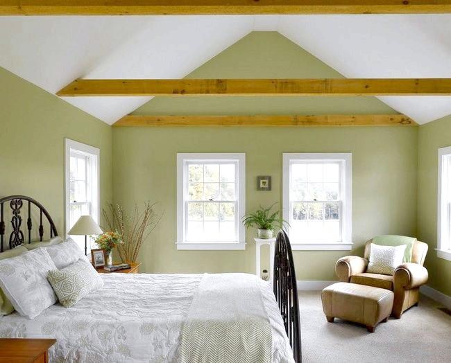 Фото - Інтер'єр і дизайн зеленої спальні