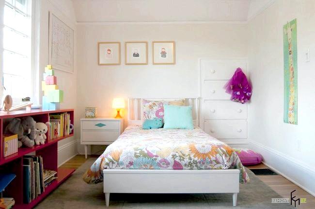 Фото - Використання білого кольору для оформлення дитячої кімнати