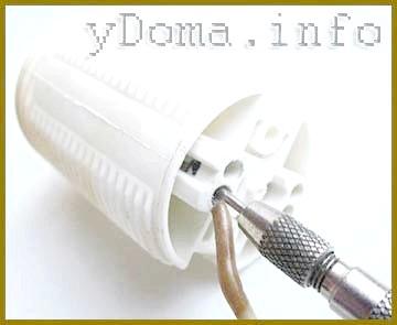 Електричний патрон, підключення безвинтовое, заправка дроту.