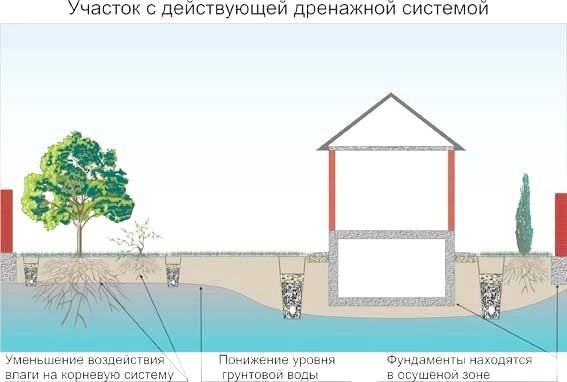 Фото - Як відвести грунтові та зливові води від фундаменту будинку
