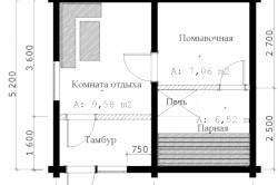 Приклад проекту каркасної лазні