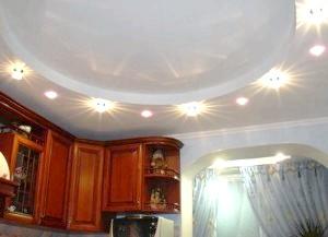 Дизайн стелі кухні з гіпсокартону