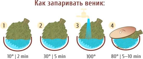 Фото - Як запарити віники для лазні: листяні, трав'яні та хвойні?