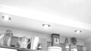 Короб з гіпсокартону на стелі