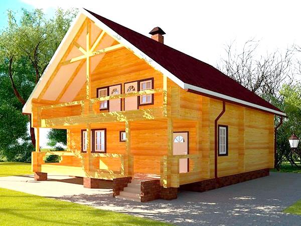 Дерев'яний будинок з бруса