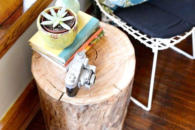 Готовий журнальний столик з пенька: третє фото