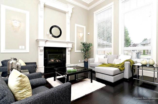 Фото - Сіра вітальня - знак особливої практичності і стриманої елегантності