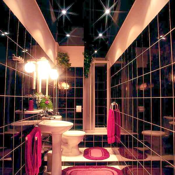 Фото - Натяжна стеля у ванній: огляд основних варіантів