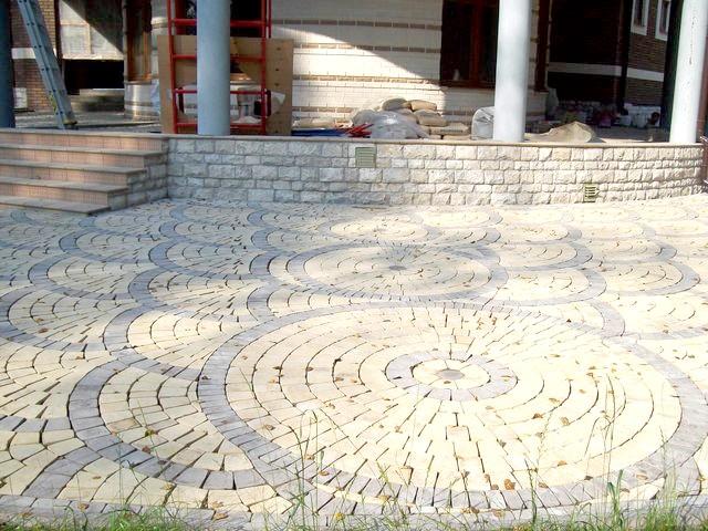 Фото - Підготовка ложа для тротуару з бруківки