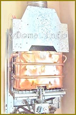 Фото - Ремонт теплообмінніка и мідніх трубокгазовой колонки пайки