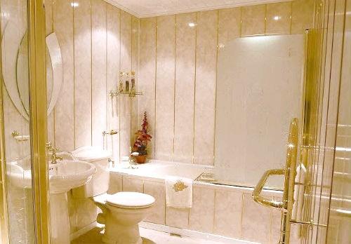 Фото - Ремонт ванної кімнати панелями пвх: ефектне недороге рішення
