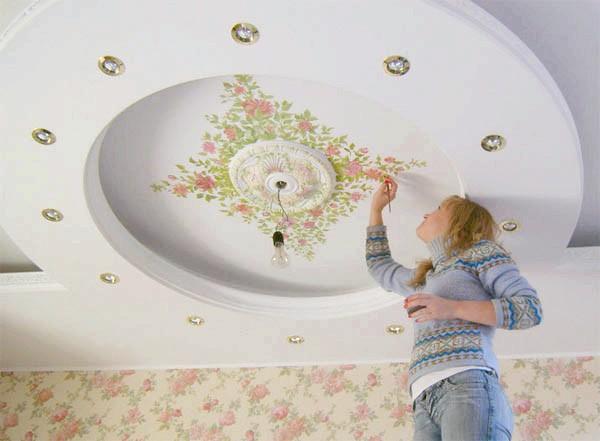 Фото - Розпис стелі як ідея для оновлення спальні