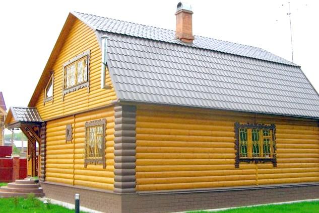 Фото - Технологія обробки будинку деревом зовні