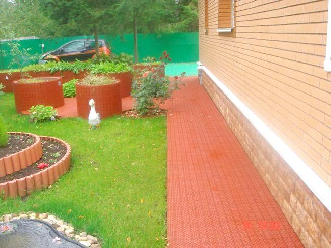 Фото - Пристрій вимощення навколо будинку з бруківки і тротуарної плитки