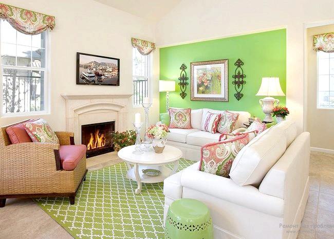 Фото - Зелений колір в інтер'єрі