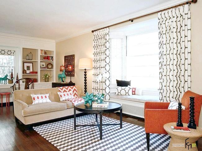 Фото - Штори для вітальні або зали: приклади новітнього дизайну