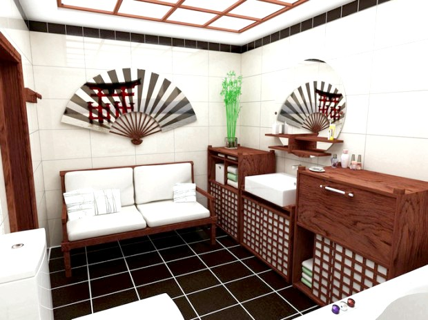 Фото - Ванна в японському стилі: гармонія і дзен
