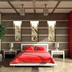 Спальня в японському стилі