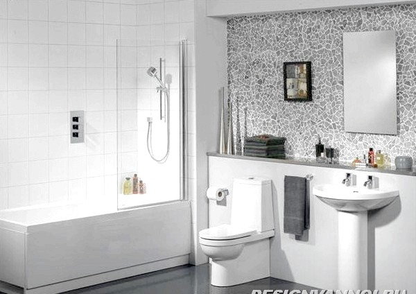 Фото - Дизайн ванної поєднаної з туалетом. 30 фото