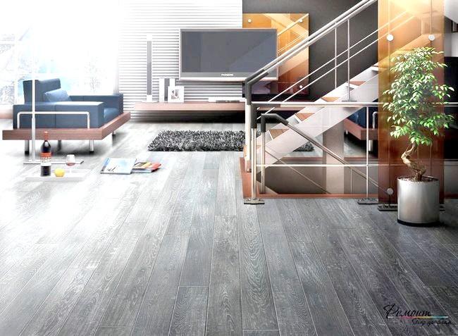 Фото - Сірий підлогу в інтер'єрі