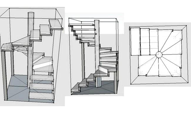 Фото - Як зробити кручені сходи самому