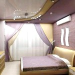 Фіолетова сучасна спальня