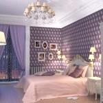 Королівська спальня - золото з фіолетовим