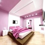 Бузково-білий інтер'єр спальні